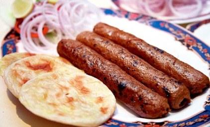 Signature Dish Kakori Kebab with Sheermal at ITC Hotel the Maratha in Mumbai, Maharashtra, India. ( Biryani, Kebab, Chicken,Food )