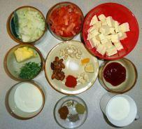 Shahi-Paneer-Ingredients