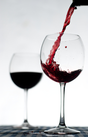 two-red-wine-glasses