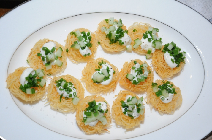 Crispy Potato Cake with Smoke Sour Cream_veg